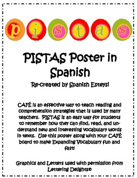 Pistas Poster for CAFE