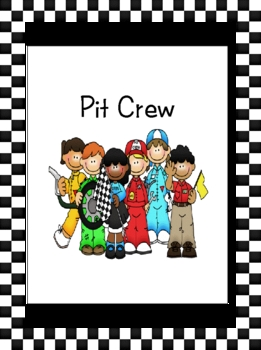 Pit Crew Kids Center Sign