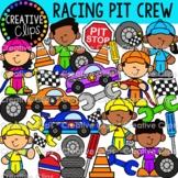 Pit Crew Kids Clipart {Race Car Clipart}