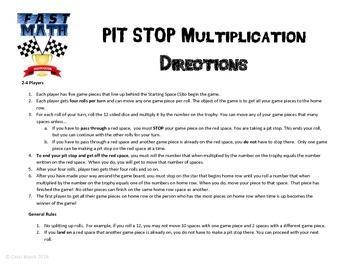 Multiplication Center Game
