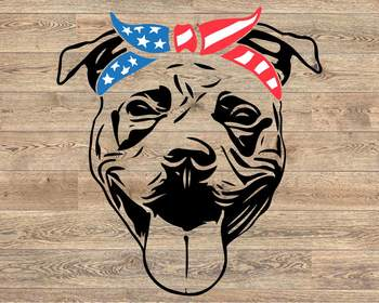 Pit bull USA Bandana mask United States Flag 4th july Pitbull 1393s