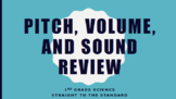 Pitch, Volume, and Sound Review PDF 3rd Grade Science