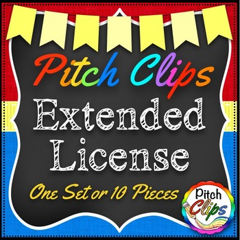 Pitch Clips - Extended License - Bundle - 1 pack or 10 pieces (POD)