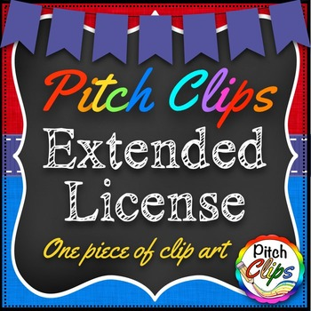 Pitch Clips - Extended License - Single piece of clip art. (for POD)