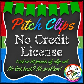Pitch Clips - No Credit License - Bundle - 1 pack or 10 pieces