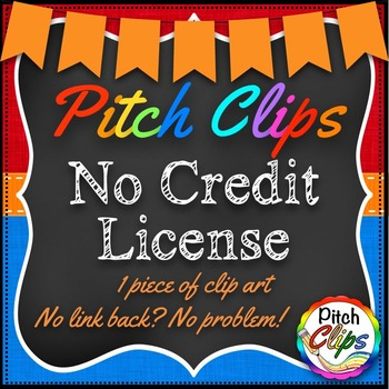 Pitch Clips - No Credit License - Single piece of clip art