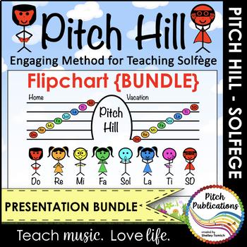 Pitch Hill: {FLIPCHART BUNDLE} - Practice Do Re Mi Fa Sol La Ti Do Solfege (So)