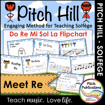 Pitch Hill: Introduce Re {FLIPCHART} - Practice Do, Re, Mi, Sol, and La