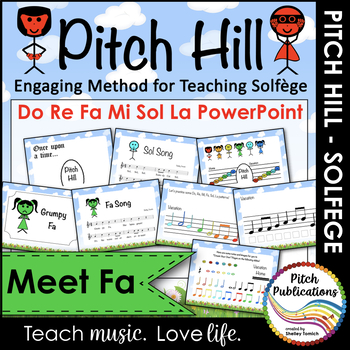Pitch Hill: Introduce Fa {POWERPOINT} - Practice Do, Re, Mi, Fa, Sol, and La