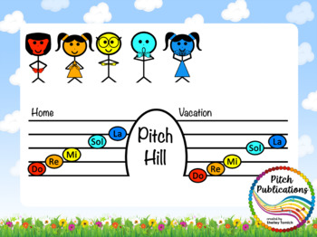 Pitch Hill: Introduce Re {POWERPOINT} - Practice Do, Re, Mi, Sol, and La