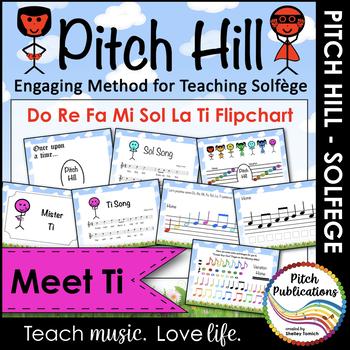Pitch Hill: Introduce Ti {FLIPCHART} - Practice Do, Re, Mi, Fa, Sol, La, Ti