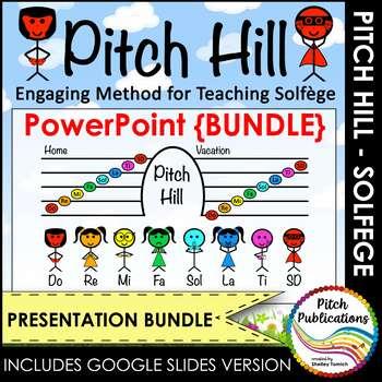 Pitch Hill: PowerPoint {BUNDLE} - Practice Do Re Mi Fa Sol La Ti Do Solfege (So)