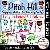 Pitch Hill: Teaching Solfege Bulletin Board Printables for Elementary Music