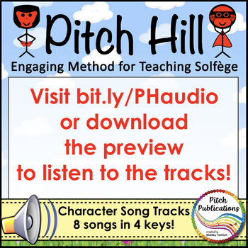 Pitch Hill: Teaching Solfege Method  CHARACTER BACKGROUND TRACKS! MP3s