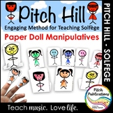 Pitch Hill: Teaching Solfege Method Paper Puppet Manipulatives!