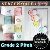 Grade 2 Pitch & Melody Music Interactive Notebook