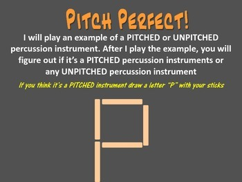 Pitch Perfect - Identifing Percussion Instruments