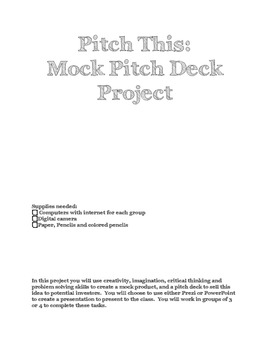 Pitch This: Mock Pitch Deck Project