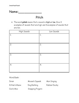 Pitch & Volume Assessments