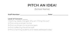 Pitch an Idea!