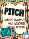 Pitch and Acoustics Internet Scavenger Hunt WebQuest Activity