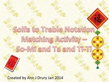 Chinese New Year - Stick to Pitch Matching  Ta and Ti-Ti with So and Mi