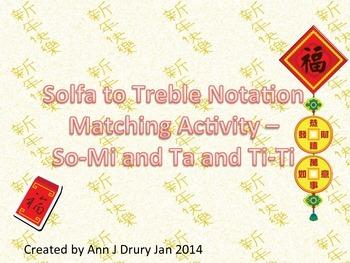 Chinese New Year - Stick to Pitch Matching  Ta and Ti-Ti w