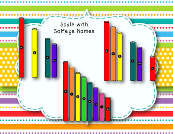 Pitched Percussion Tubes Clipart (Boomwhacker-Inspired) with Solfa & Note Names