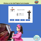 Pitches on the Treble Staff Interactive Card Sampler-Boom