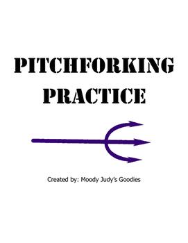 Pitchforking - Bernabei sentence writing practice