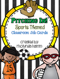 Pitching In: Sports Theme Classroom Job Cards EDITABLE