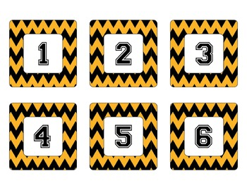 Pittsburgh Steelers Inspired Black & Gold Chevron Calendar