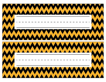 Pittsburgh Steelers Inspired Black and Gold Editable Name Plates/Word Wall