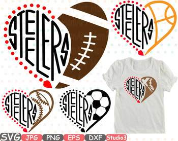 Pittsburgh Steelers Silhouette SVG clipart NFL nba mlb ncaaf school sport 723s