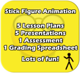 Pivot Stick Figure Animator (Animation) - Fun 5 lesson uni