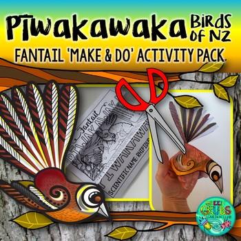Piwakawaka - New Zealand Fantail {Make & Do Activity Pack}