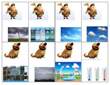 Pixar/Disney UP Weather Words Card Game