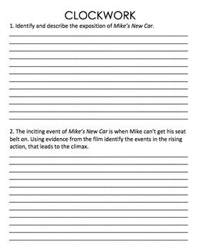 Pixar Movie Clip Plot Questions