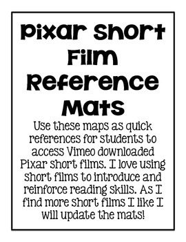 Pixar QR Code Reference Mats