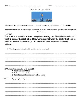 Pixar For The Birds Worksheets & Teaching Resources | TpT