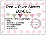 Plot, Characterization, Setting, & Foreshadow using Pixar Shorts BUNDLE