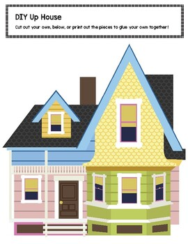 Witty image within up house printable