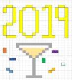 Pixel Art 2019 New Year