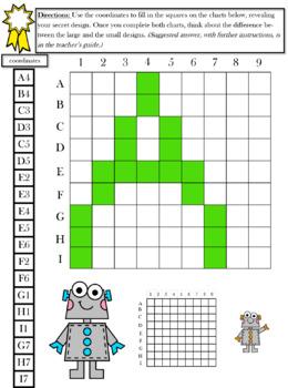 Pixel Art Alphabet - Develop coding and Algebra skills through coordinate graphs