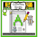 Pixel Art Alphabet coding and Algebra with coordinate grap