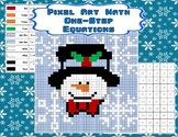 Pixel Art Math - One-Step Equations - Snowman