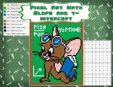 Pixel Art Math - Slope and y-intercept - Jerry Mouse