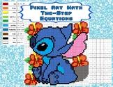 Pixel Art Math - Two-Step Equations - Stitch