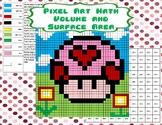 Pixel Art Math - Volume and Surface Area - Valentine Mushroom