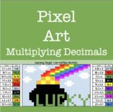 Pixel Art: Multiplying Decimals (St. Patrick's Day)